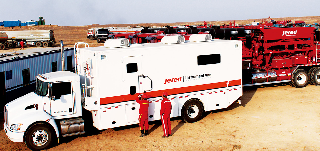 Jereh Data Van at Operation Site