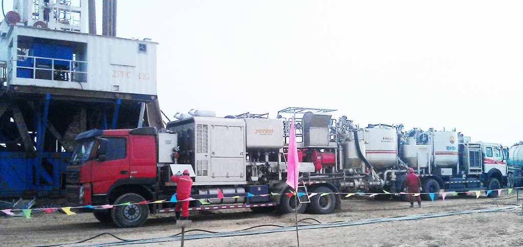 Jereh Truck Mounted Twin Pump Cementing Unit & Batch Mixer in Shaanxi, China