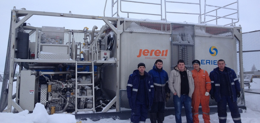 PHQ210 Skid Mounted Batch Mixer in Russia