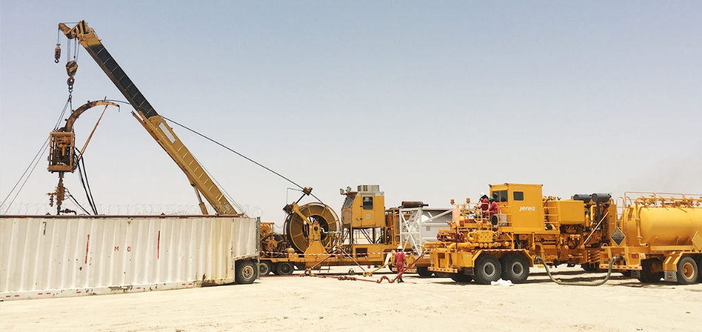 Jereh Trailer Mounted Acidizing Fracturing Unit in Middle East
